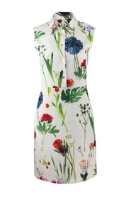 Botanic Flower Printed Cady Dress