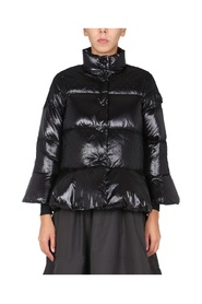 DOWN JACKET WITH TULLE POINT D'EPSRIT DETAILS