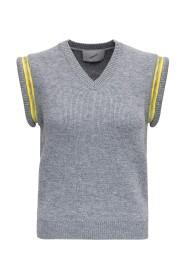 Wool Blend Top with Zip