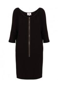 Sukienka czarna z suwakiem z przodu