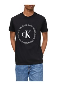 CALVIN KLEIN JEANS J30J314760 ROUND LOGO T SHIRT AND TANK Men BLACK