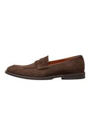 zamszowe buty penny loafers b007