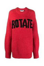 Knit sweater with logo print