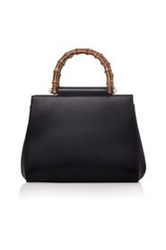 Nymphaea Bamboo Leather Tote In Pearl