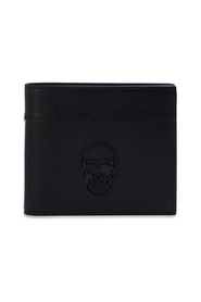 Bifold wallet with skull motif