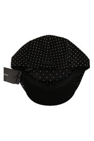 Dot Cotton Stretch Newsboy Hat
