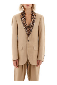Blazer with animal print