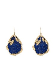 Françoise Lapis Lazuli gold plated dangling earrings