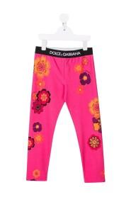 Floral-print track pants