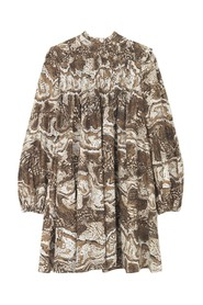 Printed Poplin Dress - Tiger's Eye Kjoler
