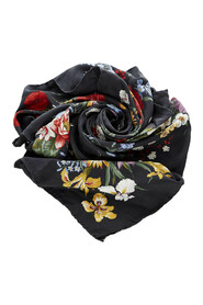 Pre-owned Floral Print Scarf Fabric