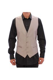 Slim Fit Button Front Formal Vest