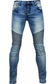 Exclusieve Jeans - Slim Fit Biker Jeans Damaged