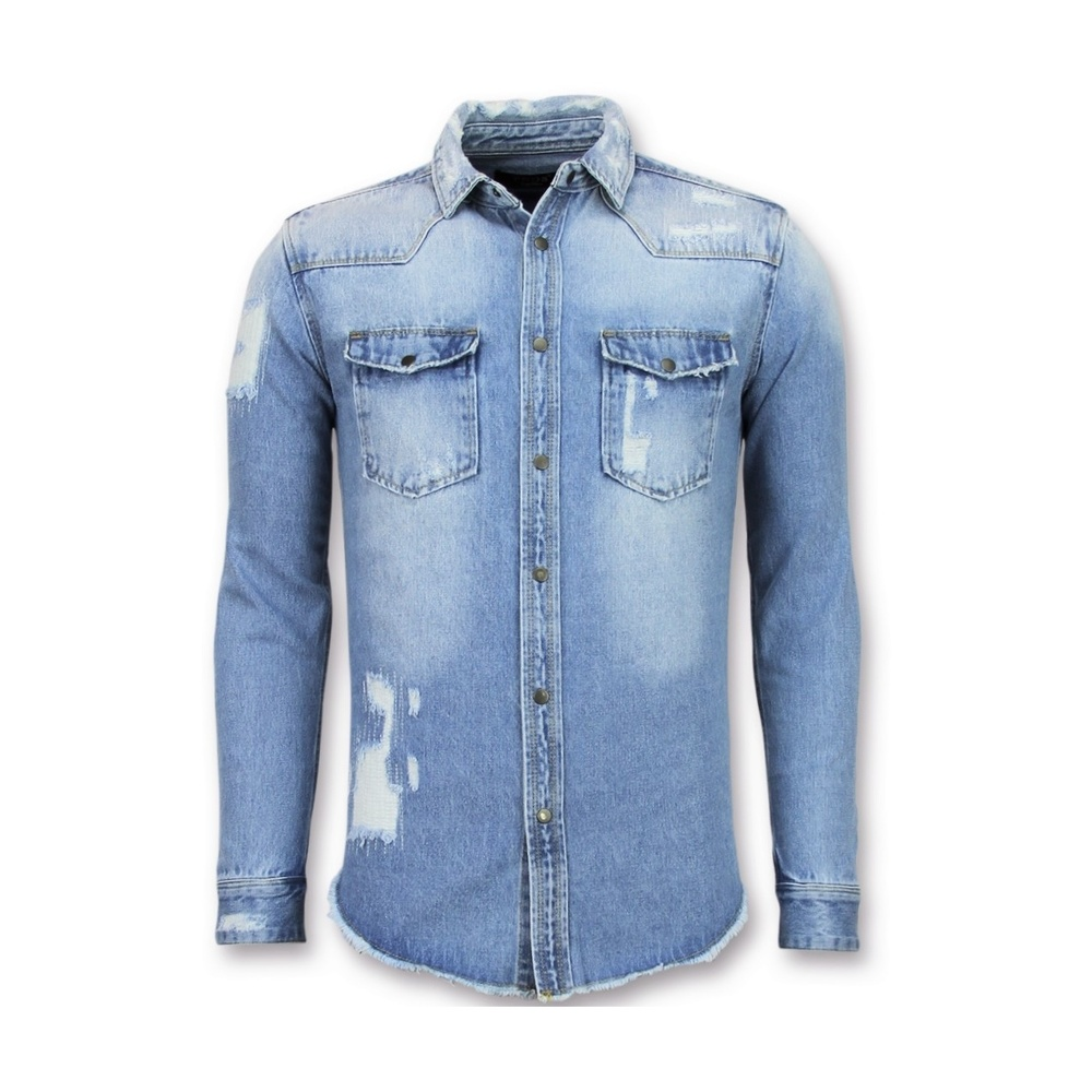 Denim Overhemd Heren