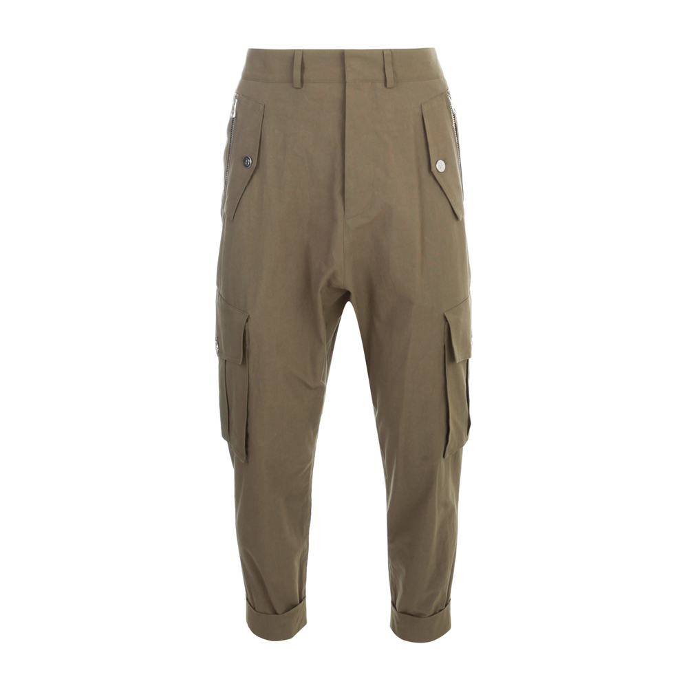 COTTON SLOUCHY CARGO PANTS