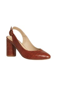 L'Inouïe Croco Effect Leather Pump Shoes