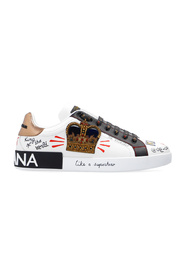 Portofino sneakers in printed nappa calfskin with patch