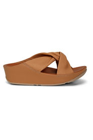 Beige / Sand Fitflop Twiss Slide Blush Leather Sandaler, Bn 459