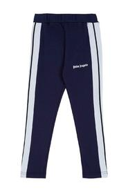 Track Cotton Leggings with Logo