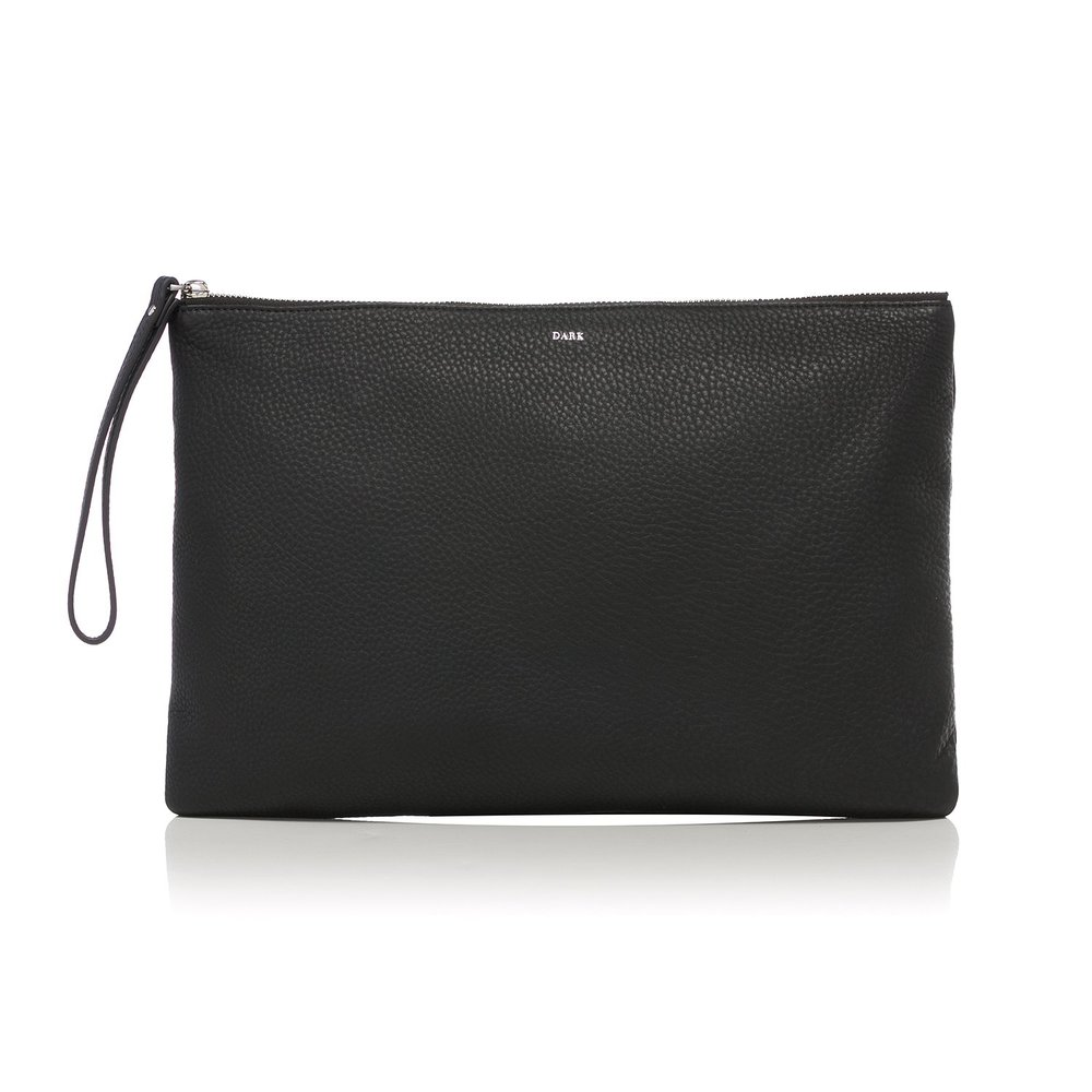 POUCH LARGE BLACK SILVER