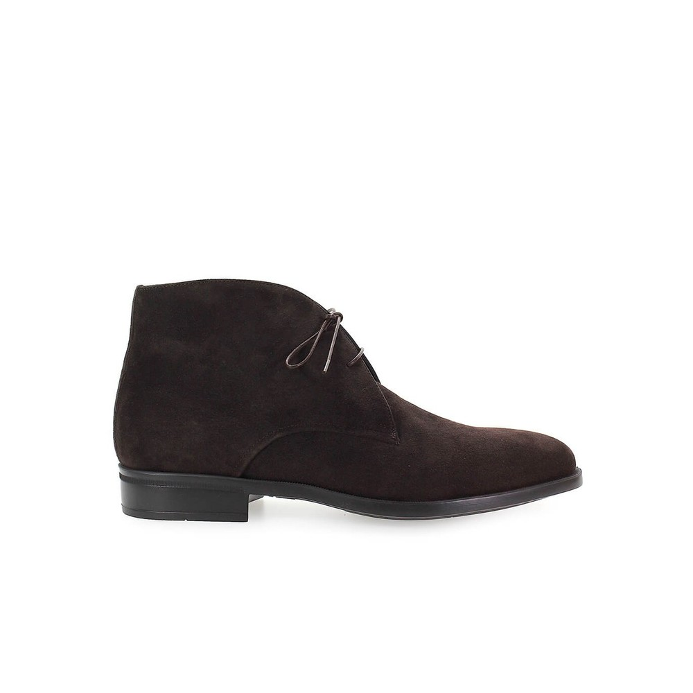 SUEDE LACED UP BOOT