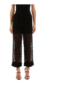 Sequin lace trousers