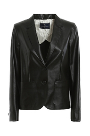 SINGLE-BREASTED ECO LEATHER BLAZER