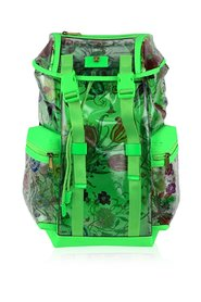 Fluo Clear PVC Floral Large Backpack Never Used