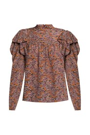 Silk top with floral motif
