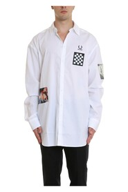 Raf Simons Printed Patches Oversize Shirt