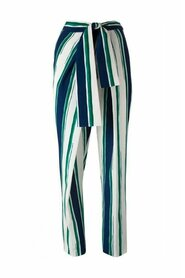 Striped Sarong Silk Trousers