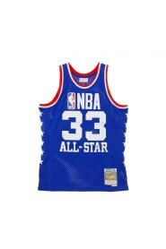 CANOTTA BASKET NBA SWINGMAN JERSEY HARDWOOD CLASSICS NO33 KAREEM ABDUL JABBAR ALL STAR WEST 1985