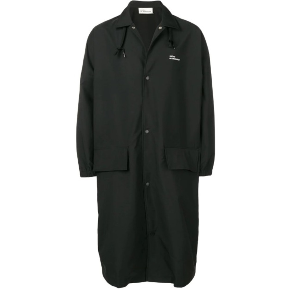 Sort Drôle De Monsieur Nfpm Long Raincoat Ytterjakker