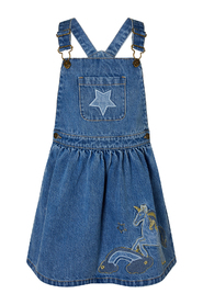 Denim Unicorn Pinny Girl Daywear Dress