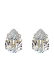 Örhängen Mini Drop Studs Rhodium Crystal