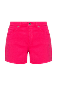 Denim shorts with logo