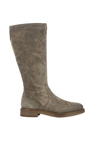 Mink waxy suede boots
