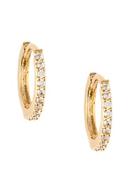 Mini Pave Huggie Hoop Earrings