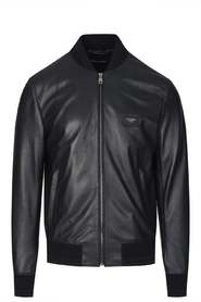 PLAQUE LEATHER BOMBER