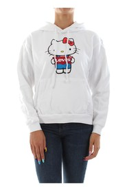 LEVIS 74318 0041 UNBASIC HOODIE - HELLO KITTY SWEATER Women WHITE