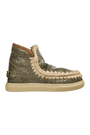 women's leather ankle boots booties Eskimo sneaker