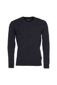 HARROW V-NECK JUMPER - CHARCOAL