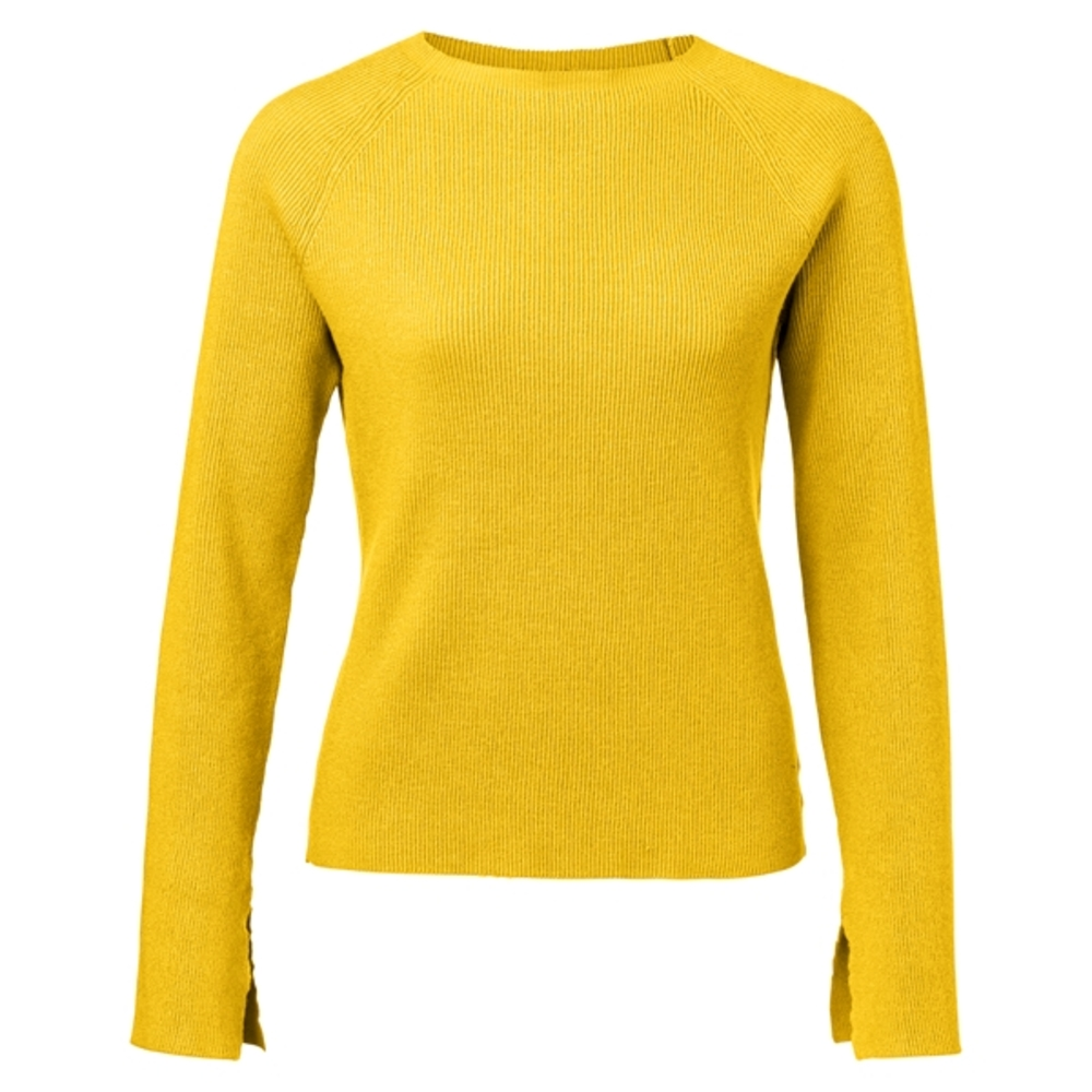 RIB KNIT SWEATER WITH TRUMPET SLEEV 1000107-913