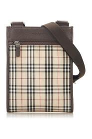 House Check Crossbody Bag Fabric Canvas