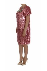 Sequined Crystal Shift Runway Dress