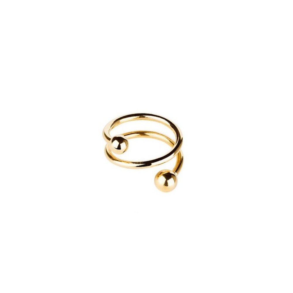 Maria Black Ring, Body Spiral, Guld