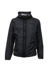 USA men's biker jacket with hood