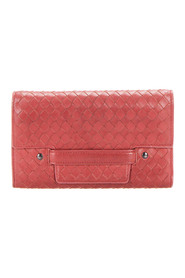 Intreciato Leather Long Wallet
