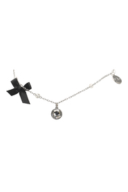 Silver-Tone Charms Necklace