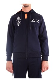 SUN 68 F29143 Sweat Men BLUE NAVY